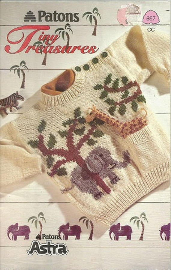 Patons Knitting Patterns Toys : Knitting Pattern Book: Patons TINY TREASURES CHILDRENS