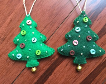 Felt Christmas Ornaments / Felt Christmas tree
