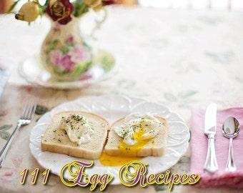 111 EGG RECIPES Delightful Delicious Healthy Food eBook PDF Digital Download - Resale Right