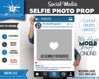 Digital File: Selfie Photobooth Prop/Frame.  Photo Prop Perfect for Any Event