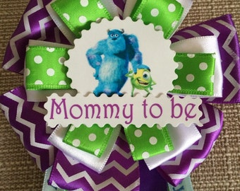 Baby Shower Corsage Pin - Monsters Inc / University Inspired