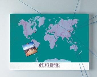 Pop Art Personalised World Map