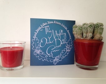 Greetings Cards - From Little Acorns the mighty oak doth grow - papercut design - Free UK Shipping