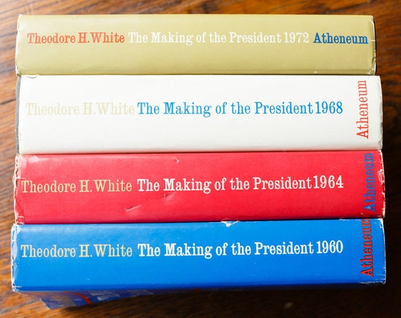 4 Political Books - The Making of the President: 1960, 1964, 1968, 1972 - Theodore H. White - American Politics - USA Presidency