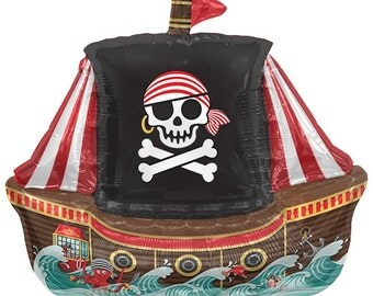 """14"""" Self-Sealing Pirate Ship Balloon"""
