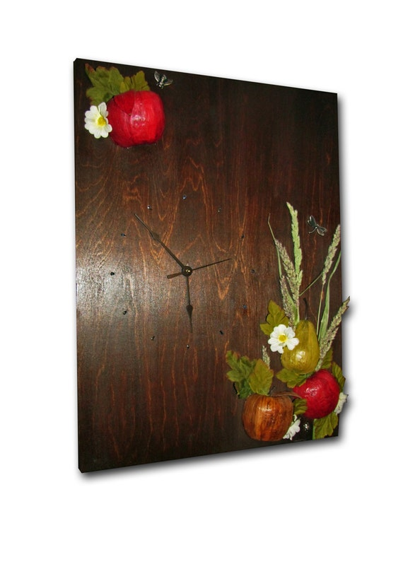 On sale clock fruits clock handmade unique clock wood Unique clocks for sale