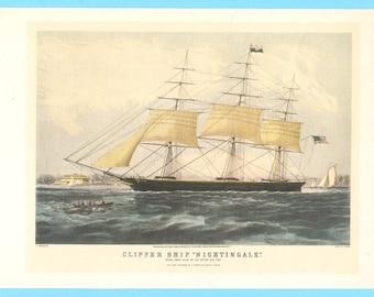 Clipper Ship Nightingale book illustration.