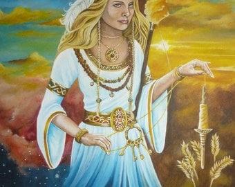 A4 Goddess Frigga Print