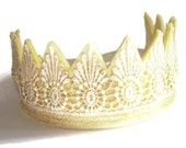 Gold Crown - Felt Crown -  Princess Crown - Lace Crown -  Party Crown -  Photo Prop - Dress Up - Fancy Dress -  King - Queen -  Prince