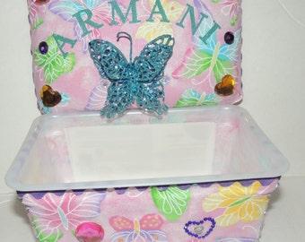 Personalized Butterfly Wipe Case