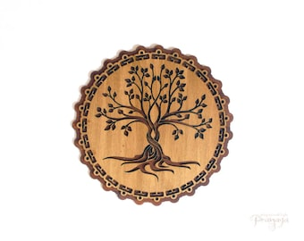Wooden Tree of Life wall decoration