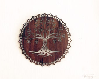 Tree of Life wooden wall decoration