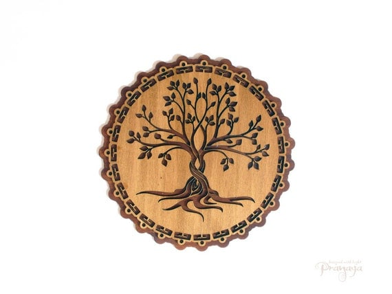 wanddecoratie houten levensboom