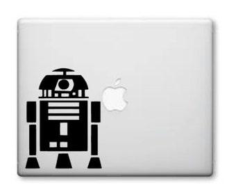 R2-D2 Starwars Vinyl Decal , Macbook or Car window- Starwars Decals - Window Decal - Vinyl Decals