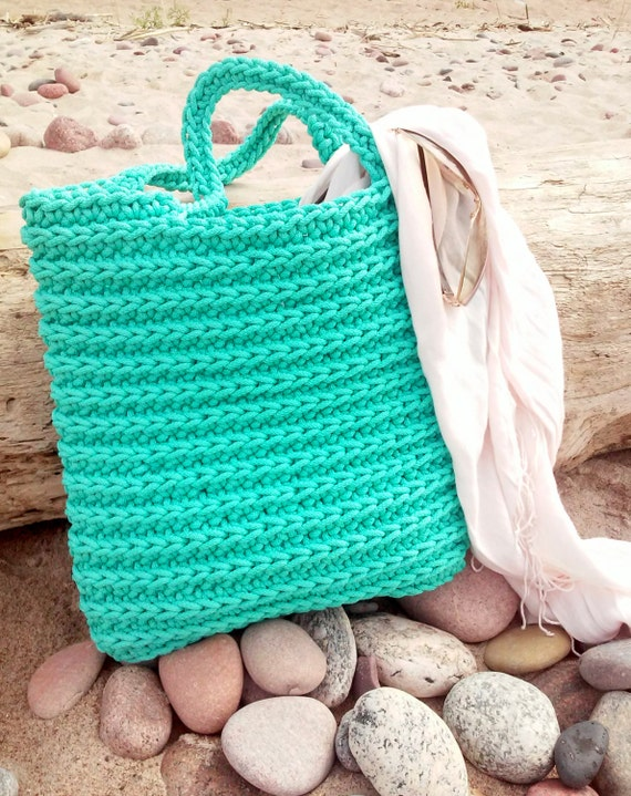 Handmade Knitting Bag Pattern : Handmade Bags/ Knitted Bags/ Rope Bags/ Crochet by ...