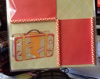12 X 12 Scrapbook page layout, Scrapbooking  Pages, Travel Layout, Single Page  Layout, Travel Page