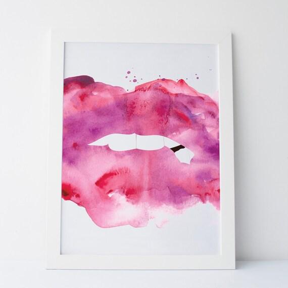 Printable art abstract lips lips art lips prints for Lips wall art