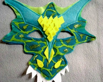 Dragon Mask Shiny Scales Ages 1 to Adult