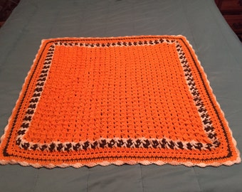 Orange Lap Afghan