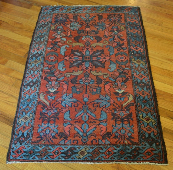 Small Antique Persian Rug // 3x4 Ft. By SevenHillsCollection