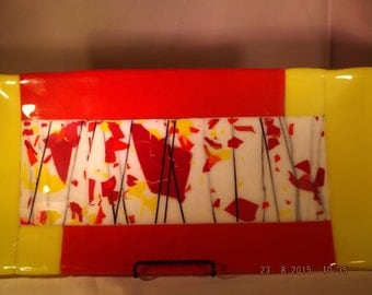 Fall Colors, fused glass