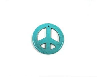 Turquoise Peace Pendant