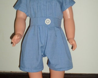 Baby Blue Romper with Belt