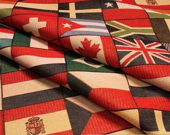 Fabric cotton polyester tapestry flag 280 cm wide