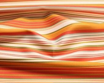 Fabric Trevira® CS satin stripes green red not flammable