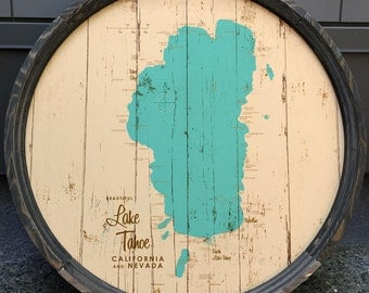 Lake Tahoe Map Barrel End