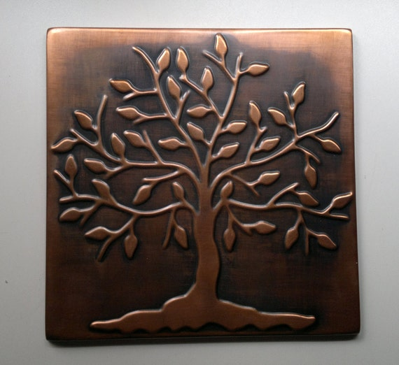 Rustic Tree Wall Decor : Tree of life happiness metal wall art by mycoppercraft