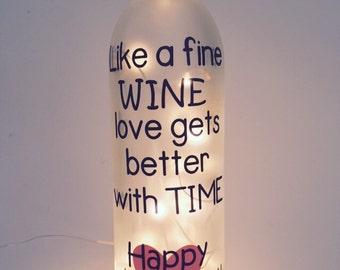 Lighted Wine Bottle Hocus Pocus I Need Wine To