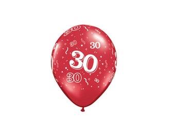 30th Latex Balloons, 30th Birthday Balloons, 30th Anniversary Balloons,