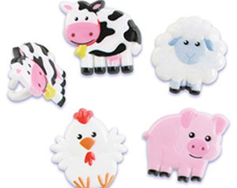 Farm Animal Plastic Rings