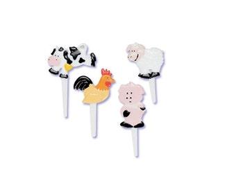 Farm Animal Cupcake Picks