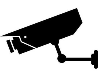 Security Camera Vinyl Decal