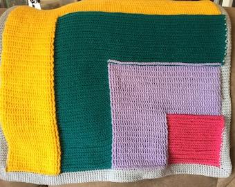 Asymmetrical Basket Weave baby afghan