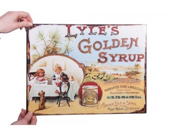 The Best and Purest Lyles Golden Syrup Vintage Sign