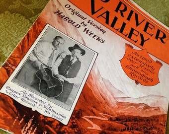 Sheet Music - Red River Valley,