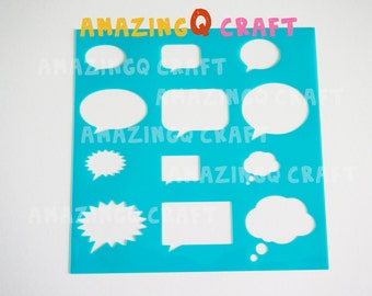 Speech Bubble Stencil