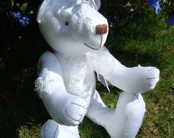 Keepsake wedding dress bear