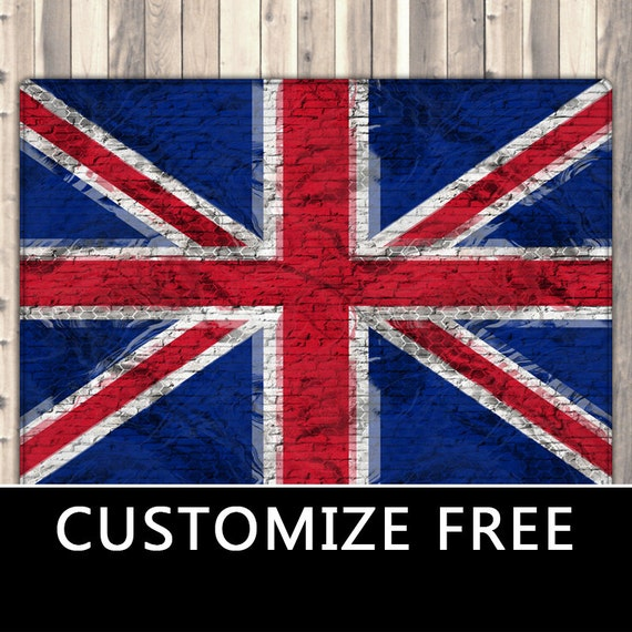 British Flag Area Rug Union Jack Plush Rug Patriotic Flag
