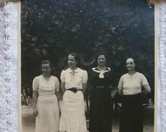 Vintage photography. Vintage women. Black and White. Ephemera. Vintage paper. Scrapbook. Crafts.