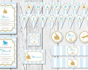 Cinderella DIY Printable Birthday Party Package