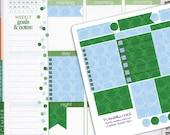December Coffee Rings Coordinating Planner Sticker Half Kit // Erin Condren Planner Stickers