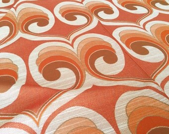 German vintage 70s fabric 50x120cm Orange