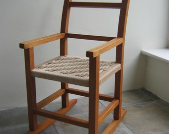 Vintage Child Woven Rocking Chair