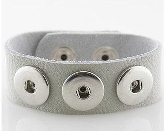 stone leather bracelet