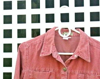 Pink Corduroy Shirtdress
