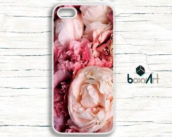iPhone Case - Pink Peonies - iPhone 4/4s iPhone 5 iPhone 5c iPhone 5s iPhone 6 iPhone 6 Plus iPhone 6s iPhone 6s plus iPhone SE